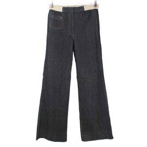Yigal Azrouel Dark Wash Wide Leg Trouser Jeans